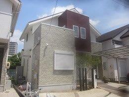 屋根遮熱塗料塗装 外壁フッ素塗料塗装 外壁付帯部塗装完了
