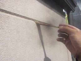 外壁ALC目地コーキングプライマー塗布状況