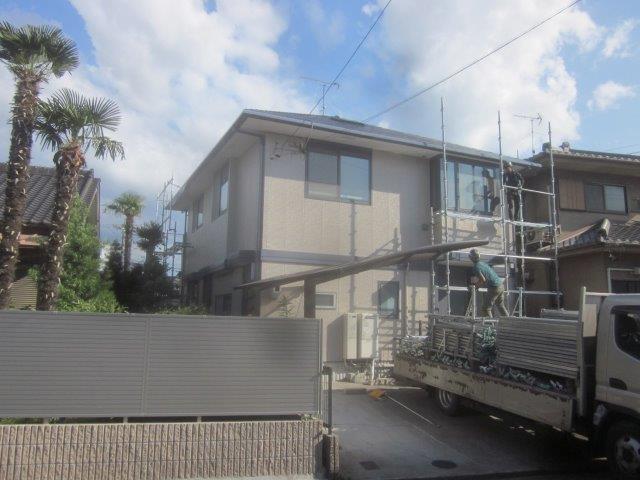 屋根塗装工事 外壁塗装工事 外壁付帯部塗装工事完了