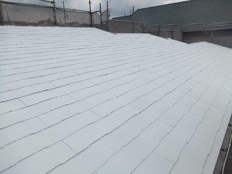 屋根キルコ遮断熱塗料主剤二層目塗装完了