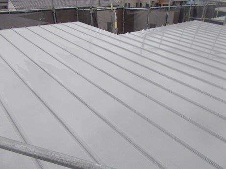 屋根塗装前高圧洗浄状況完了