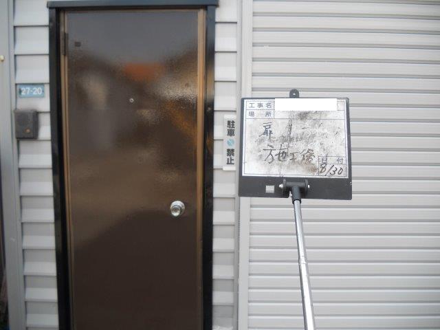 玄関扉塗装完了