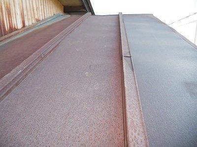 瓦棒屋根塗装施工前
