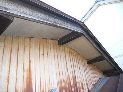 外壁トタン塗装施工前