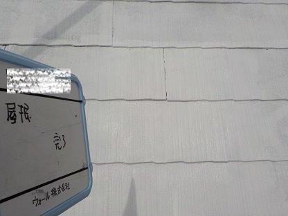 屋根キルコ射断熱塗料主剤二層目塗装完了