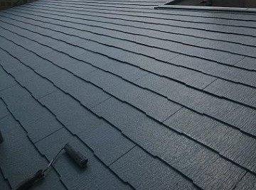 屋根キルコ遮断熱塗料遮熱塗料二層目塗装状況