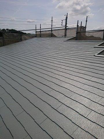 屋根キルコ遮断熱塗料遮熱塗料二層目塗装完了