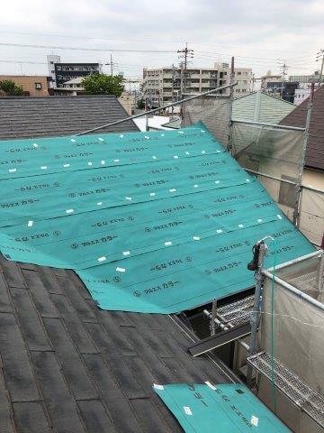 屋根板金張替え