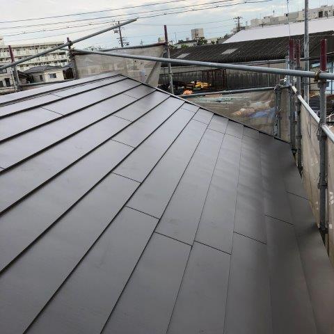屋根板金張り