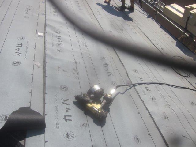 屋根防水シート貼り完了