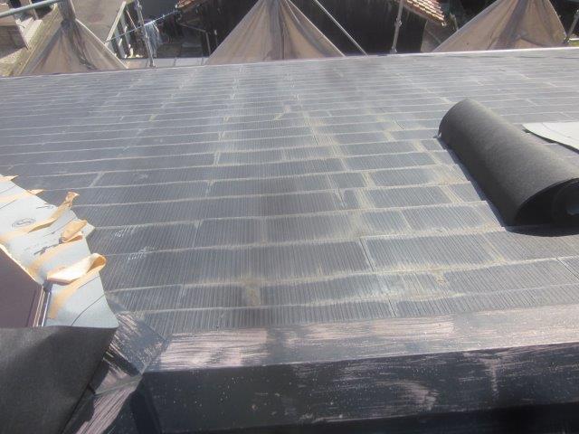 屋根既存カラーベスト撤去完了
