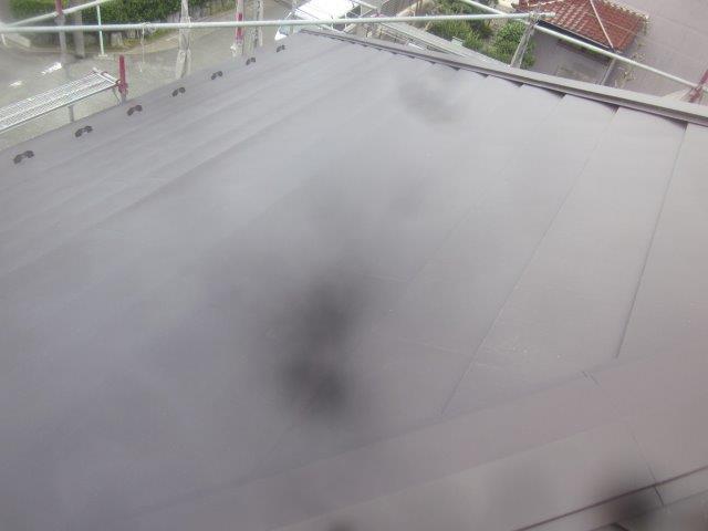 屋根ニチハ横暖ルーフαプレミアムS張替え完了