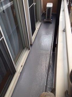 バルコニー防水塗装完了