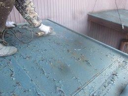 屋根塗装素地調整