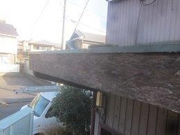 破風板塗装前素地調整完了