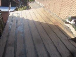 屋根塗装前素地調整完了