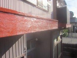 破風板塗装さび止め塗装完了