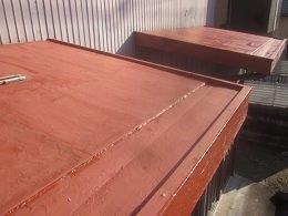 屋根塗装さび止め塗装完了