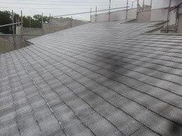 屋根キルコ遮断熱塗料下塗り塗装完了
