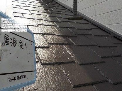 屋根塗装キルコ断熱塗料上塗り二層目塗装完了