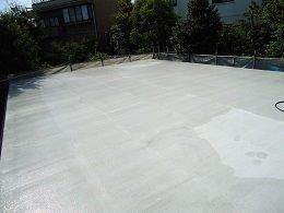 屋上防水施工前高圧洗浄完了