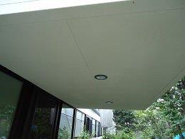軒天塗装前高圧洗浄状況完了