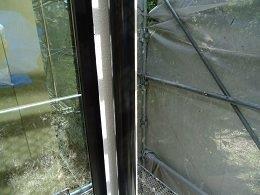 雨樋塗装上塗り一層目塗装完了