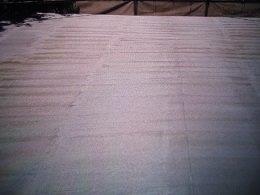 屋上防水断熱仕様下塗り塗装完了