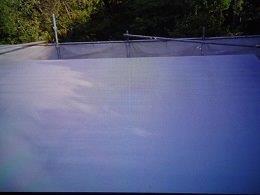 屋上防水断熱仕様防水材一層目塗装完了