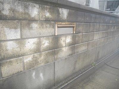 外塀高圧洗浄完了