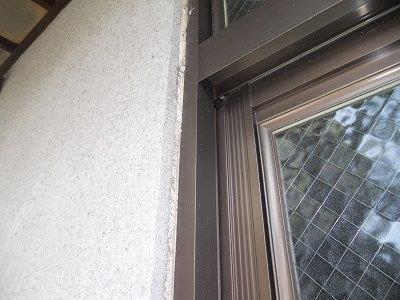 外壁モルタル部塗装前高圧洗浄完了