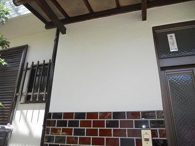 外壁モルタル部塗装完了