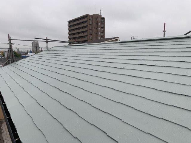 屋根遮断熱塗料塗装完了