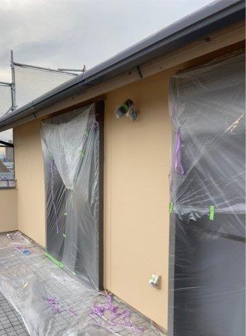 外壁サイデイング断熱塗料塗装完了