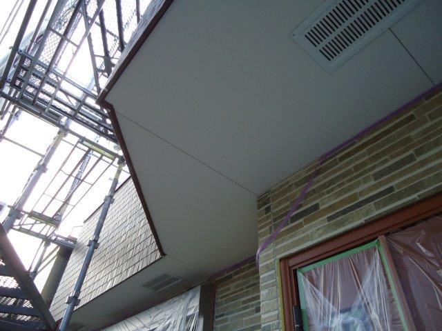 軒天塗装施工前