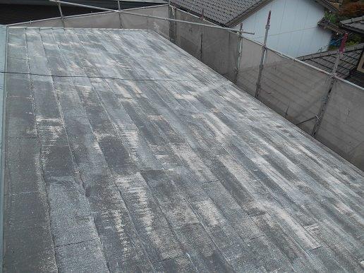 屋根遮断熱塗料塗装下塗り塗装完了