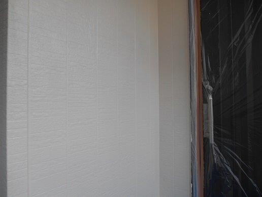 外壁サイディング断熱塗料塗装主材二層目塗装完了