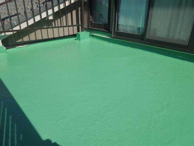 バルコニー防水トップjコート塗装完了