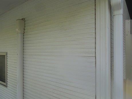 外壁サイディング断熱塗料塗装前高圧洗浄状況