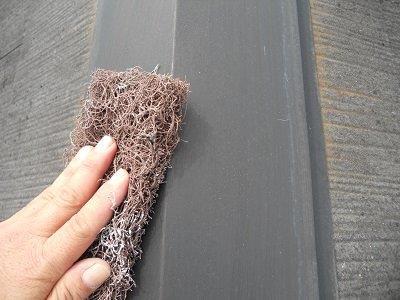 屋根カラーベスト遮断熱塗料塗装板金素地調整状況