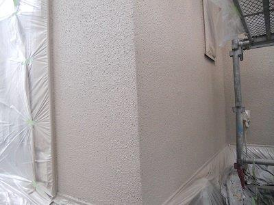 外壁サイディング断熱塗料塗装中塗り塗装完了