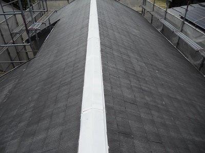 屋根カラーベスト遮断熱塗料塗装下塗り塗装完了