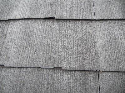 屋根カラーベスト遮断熱塗料塗装タスペーサー挿入完了