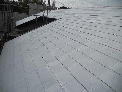 屋根カラーベスト遮断熱塗料塗装断熱塗料一層目塗装完了