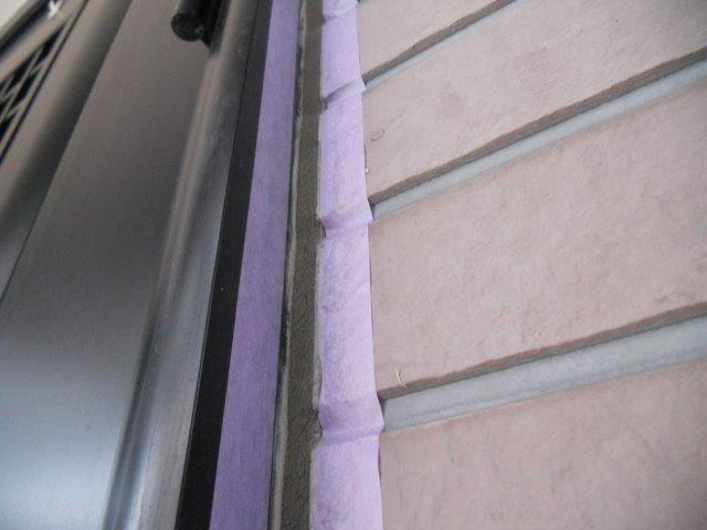 外壁サイディングシリコン塗装前コーキング打ち増し施工前