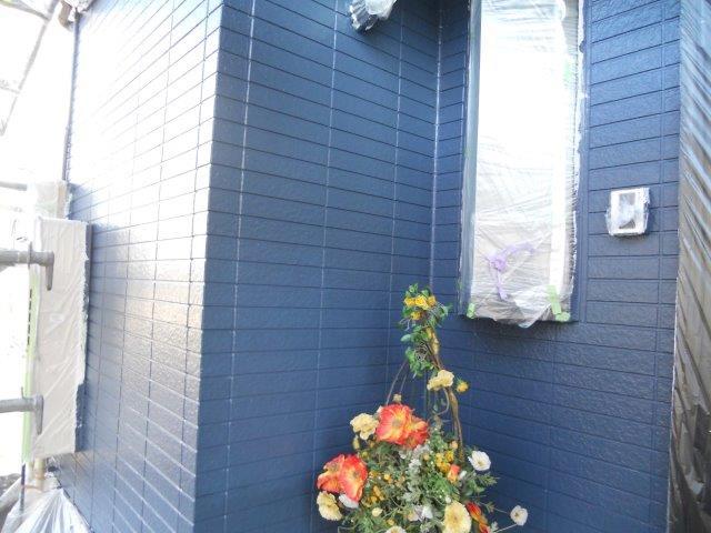 外壁サイディングシリコン塗装上塗り二層目完了