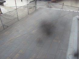 屋根遮断熱塗料塗装前高圧洗浄完了
