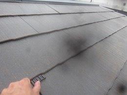屋根遮断熱塗料塗装前タスペーサー挿入状況