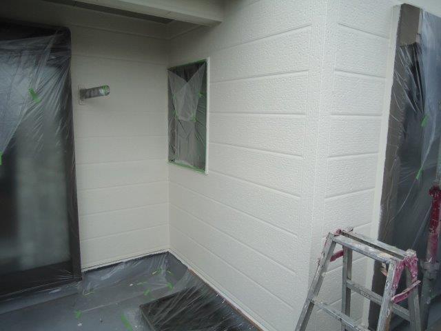 外壁サイデイング断熱塗料塗装トップコート塗装完了