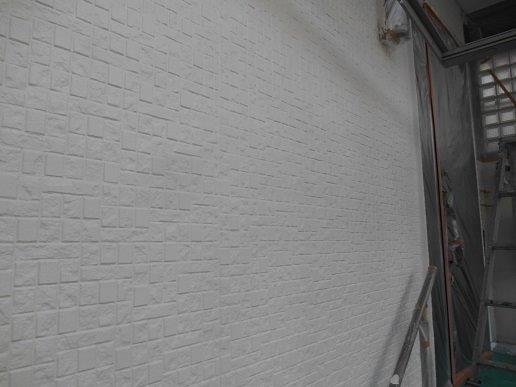 外壁サイディング断熱塗料塗装主材塗装二層目完了